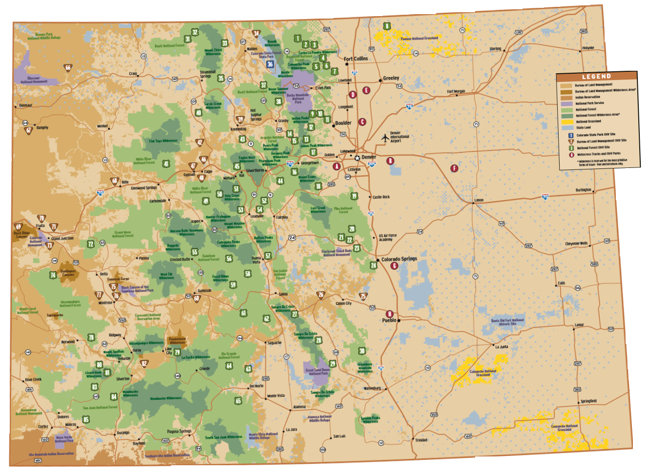Colorado Off Roading Locations Map