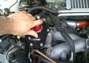 Radiator Filler Cap Installation