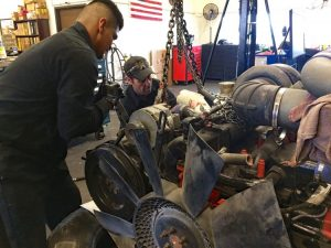 Class 8 Diesel Engine Removal